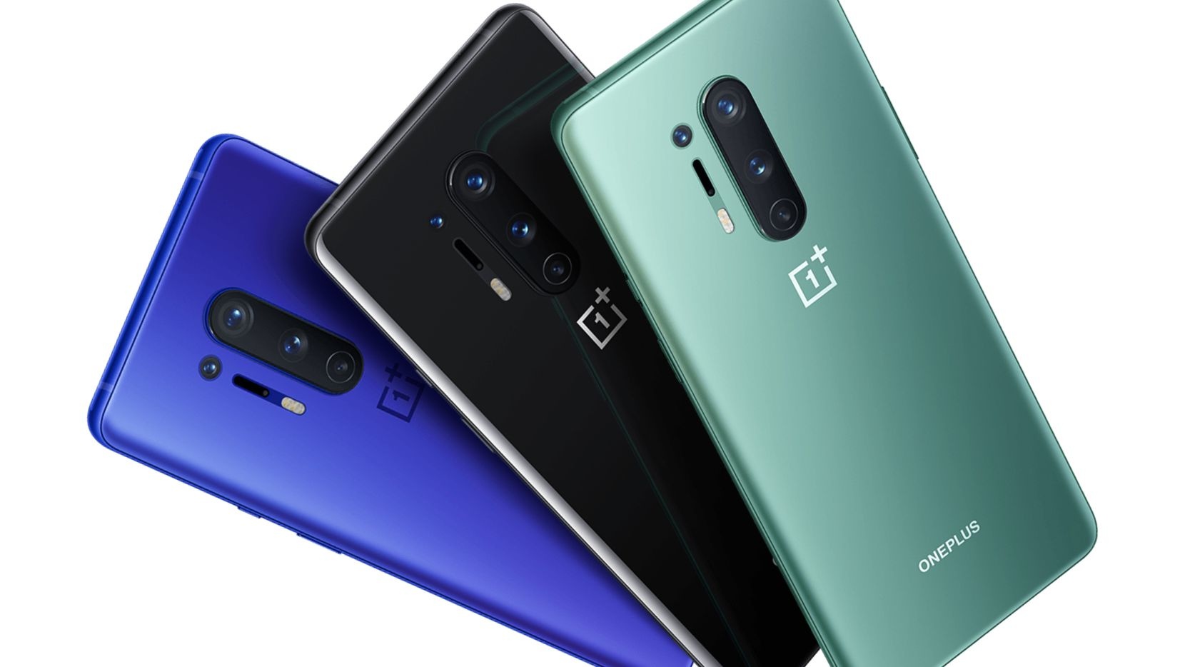 The OnePlus 8 Pro comes in Onyx Black, Ultramarine Blue and Glacial Green.