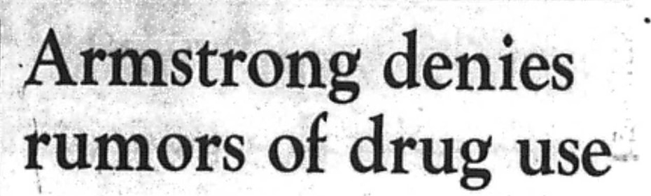 Headline from July 20, 1999 article.