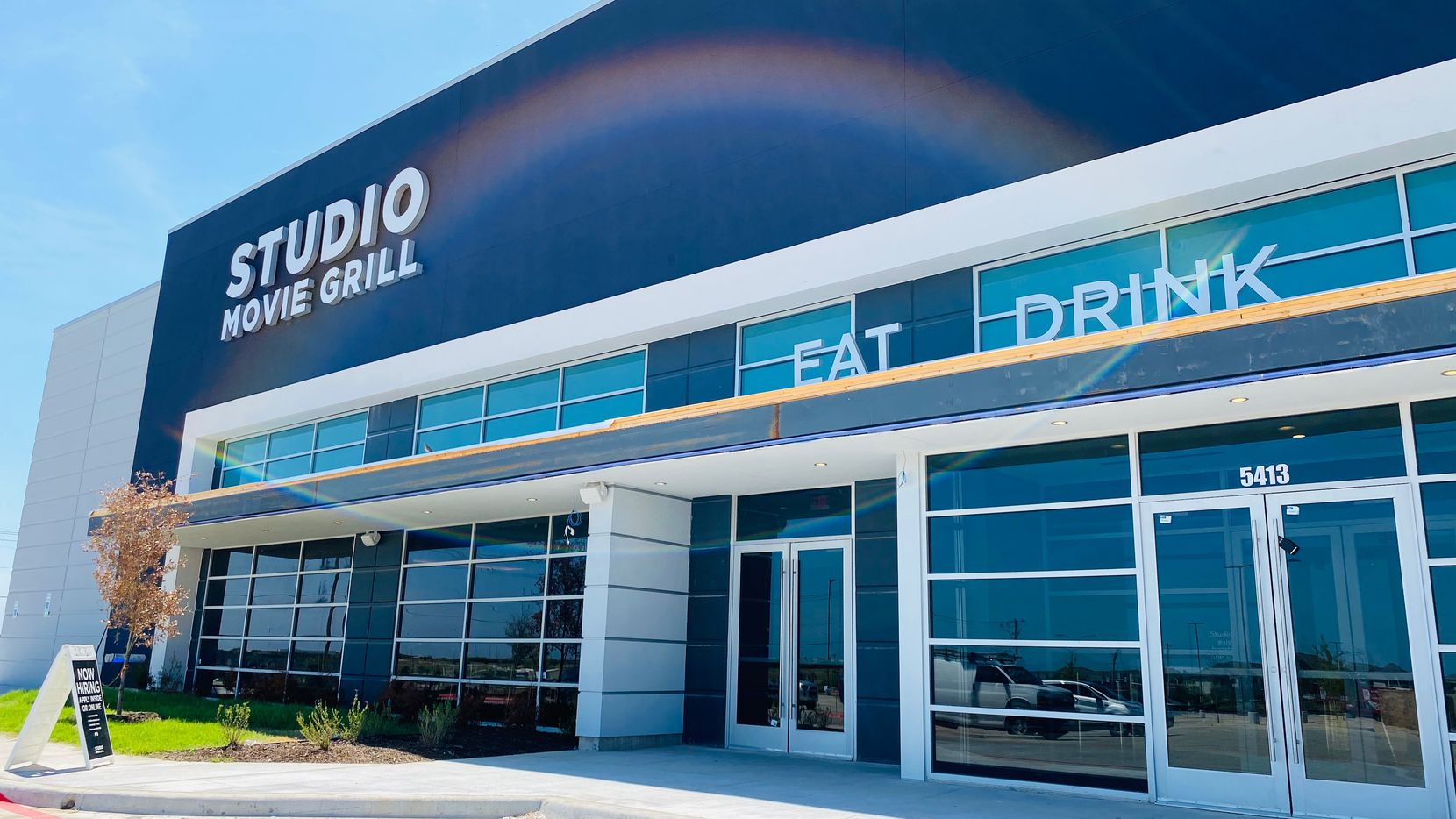 The exterior of the new Studio Movie Grill Chisholm Trail location in Fort Worth appears in August. Studio Movie Grill has filed for bankruptcy.