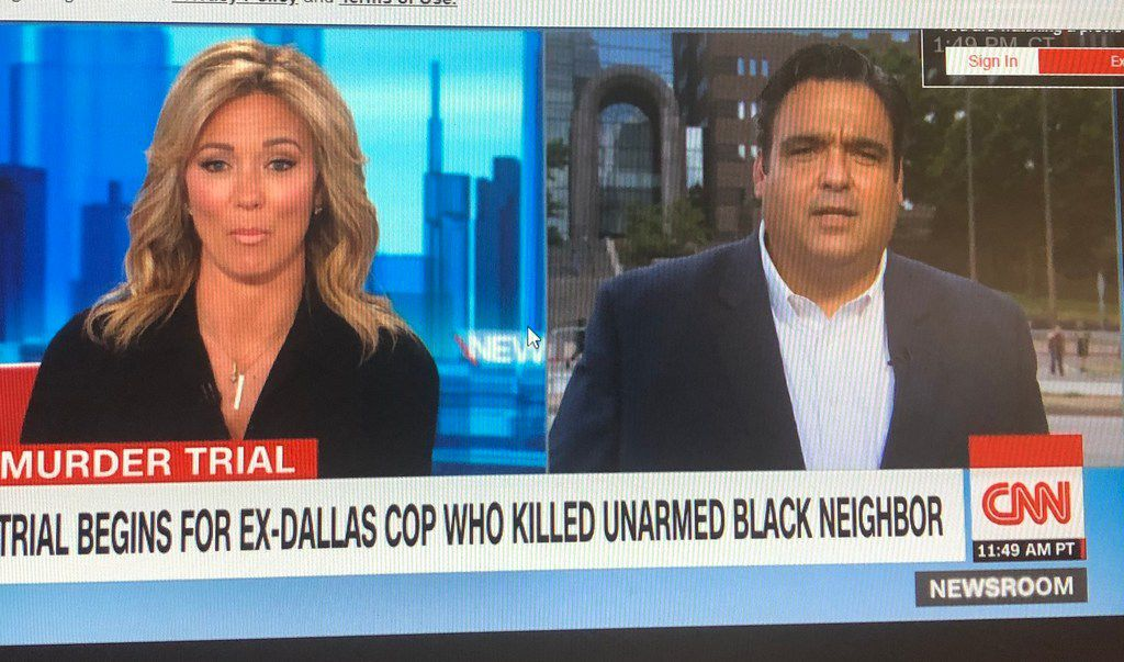 The Amber Guyger trial drew national coverage Monday on CNN and in other national media.