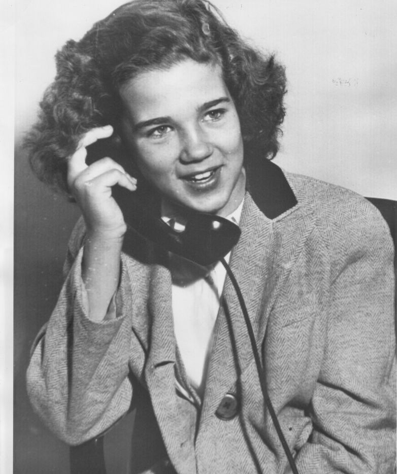 Sally Horner on the telephone with her mother hours after her rescue from Frank LaSalle.