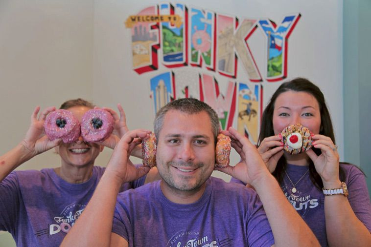 FunkyTown Donuts & Drafts is a family-owned business in Fort Worth. Its Sundance Square location opened July 22.