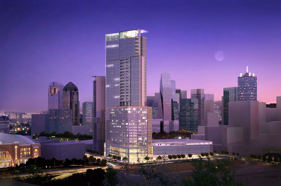 The site was previously planed for a 43-story Mandarin Oriental Hotel and condos.