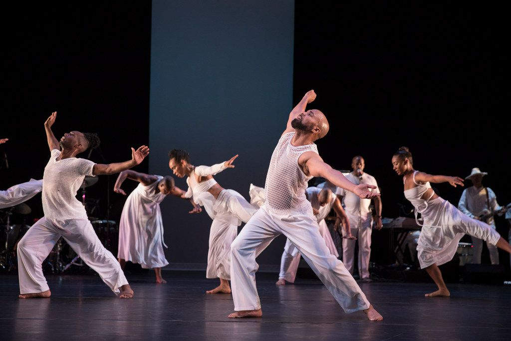 Ronald K. Brown's Evidence: A Dance Company performs Brown's seminal work for Alvin Ailey American Dance Theater, Grace, which is celebrating its 20th anniversary this year. When Evidence opens the 2019-20 season of Dallas presenter TITAS/Dance Unbound, Grace will on the program alongside a new companion piece, Mercy.