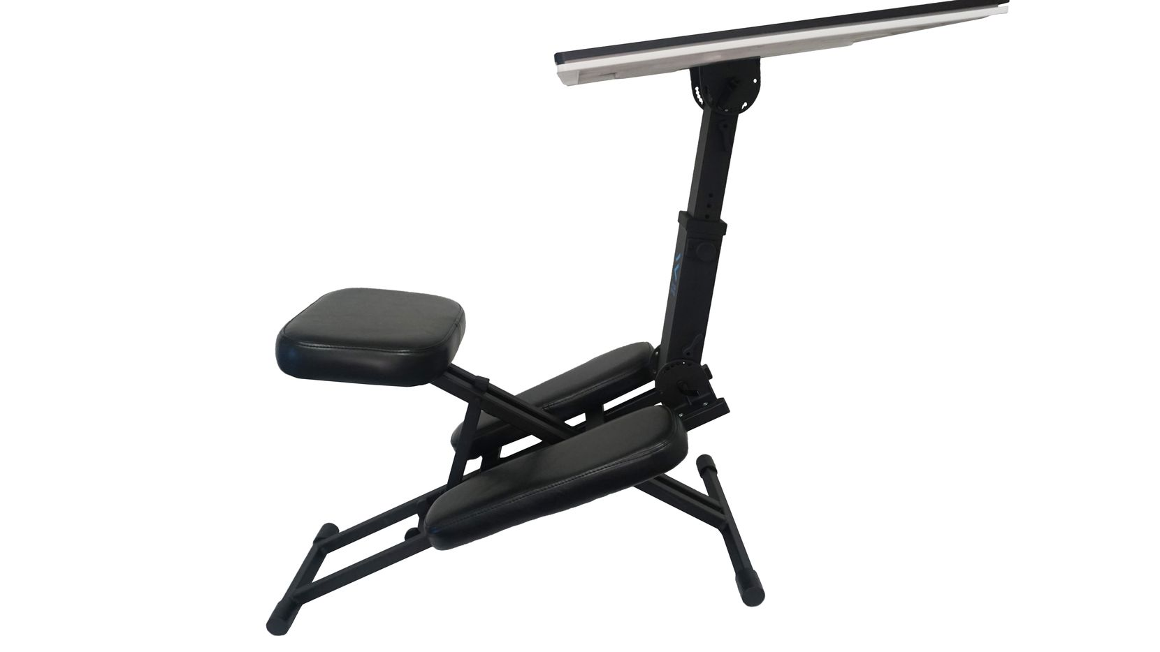 The Edge Desk has a seating position that takes the strain off your back.