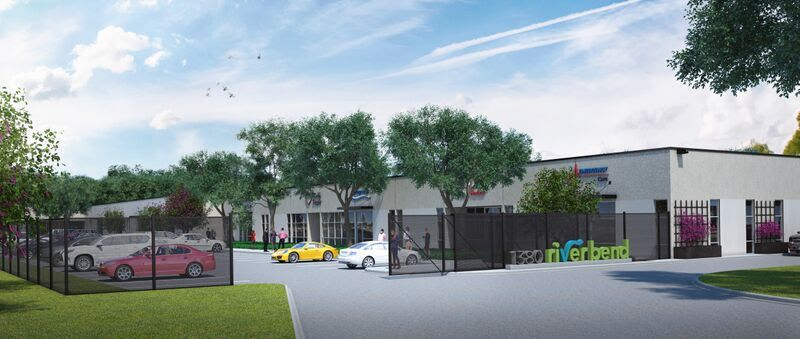 The 1380 River Bend development is on the old banks of the Trinity River northwest of downtown Dallas.