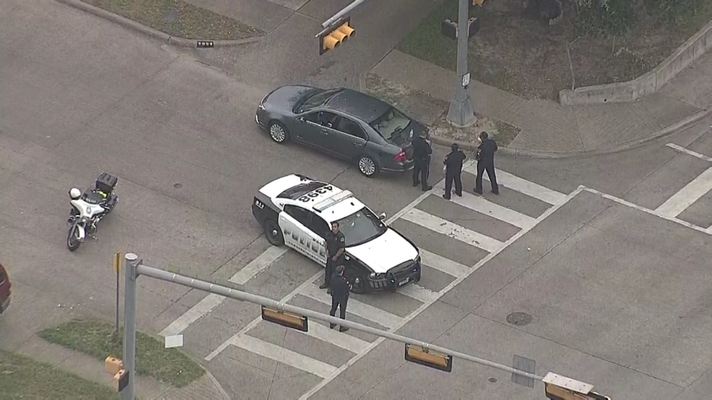Dallas police were investigating after a Plano officer shot an armed man Thursday morning.