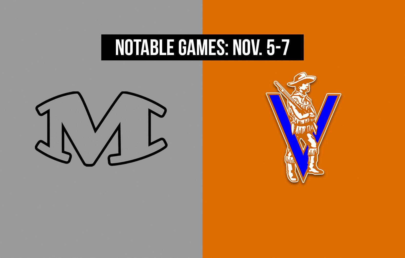 Notable games for the week of Nov. 5-7 of the 2020 season: Arlington Martin vs. Arlington Bowie.