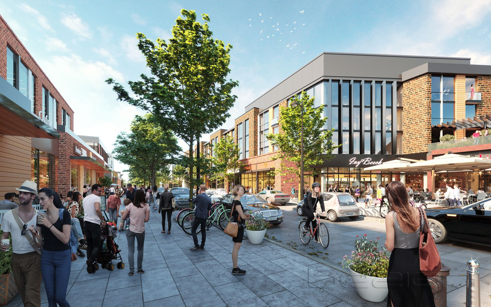 The North Fields project will include urban-style retail and restaurants.