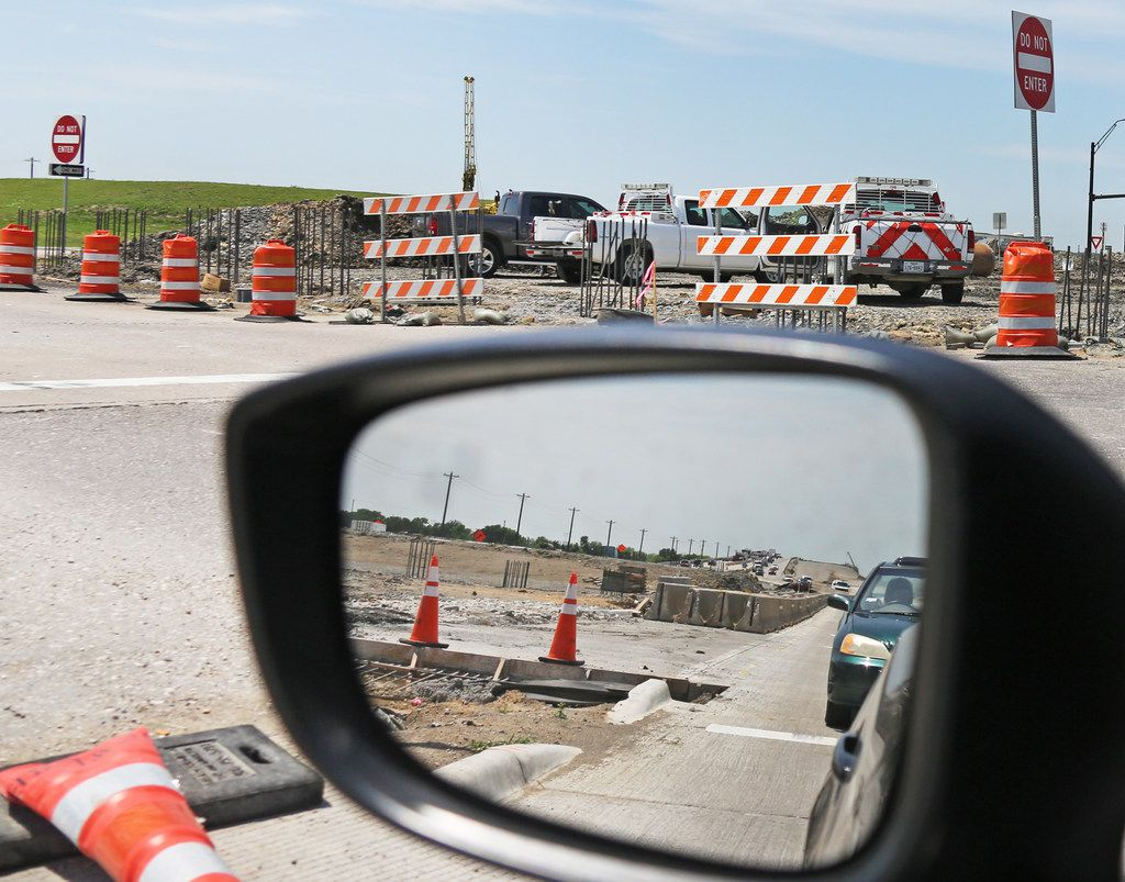 Construction continues on the Highway 380  expansion between Frisco and Prosper.