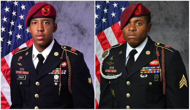 Sgt. Allen Levi Stigler Jr. (left) and Sgt. Roshain Euvince Brooks of Brooklyn were killed this month while supporting Operation Inherent Resolve.