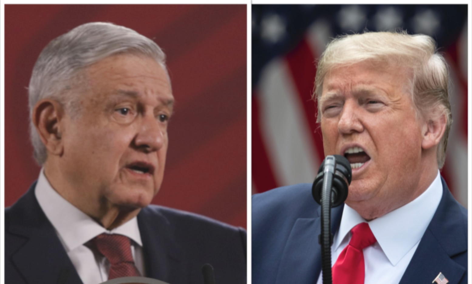 Andrés Manuel López Obrador and Donald Trump.