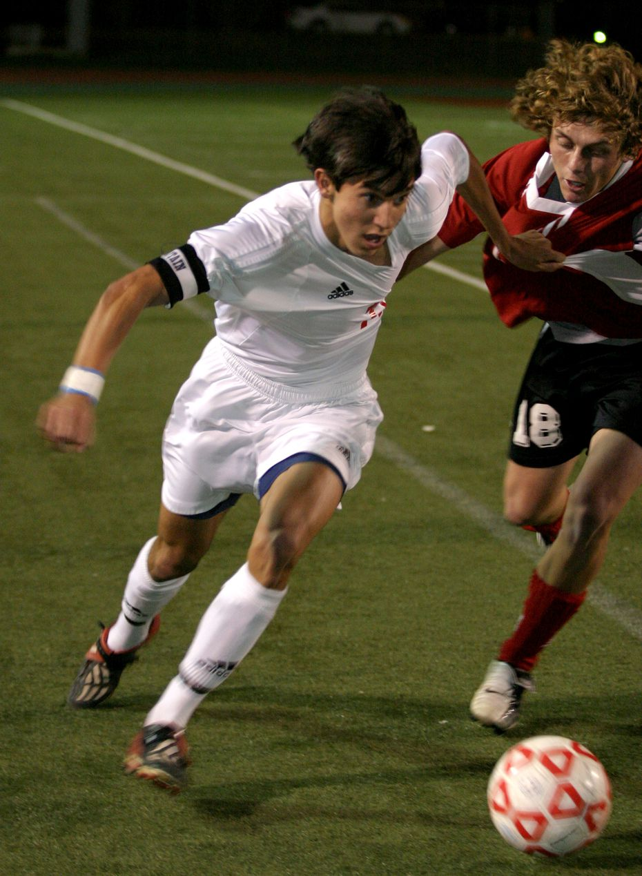 Shea Salinas, left, is pictured playing for Grapevine in 2004. He helped his high school win three district titles before playing at Furman and later in MLS.
