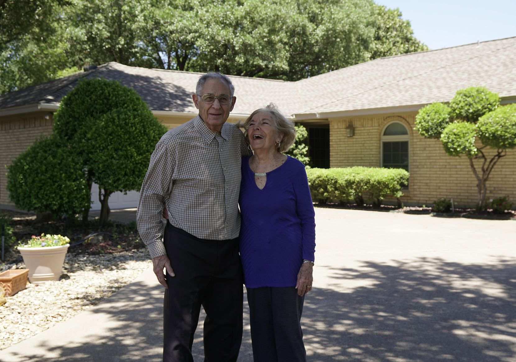 Tony and Athena Pachares settled in Fort Worth after Tony retired as a lieutenant colonel.