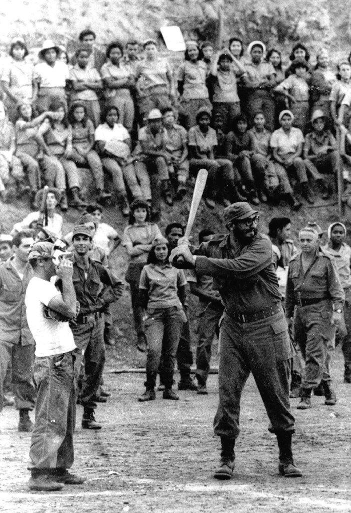 Fidel Castro plays baseball in July 1962 in Cuba.