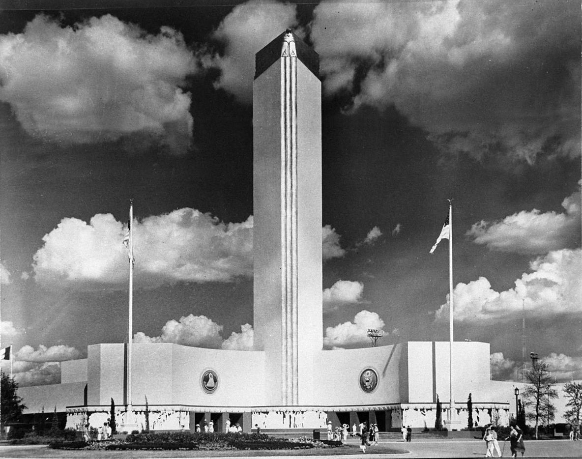 """This photo was taken in 1936 of what was then called """"The Federal Building."""" The building is now called The Tower Building at the State Fair of Texas at Fair Park in Dallas."""