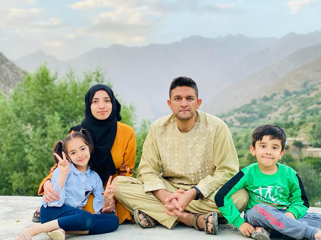 Mohammad Afzal Afzali and his family pose for a photo on July 18, 2021 in Panjshir Province, Afghanistan, where Afzali is from. Photo courtesy of Mohammad Afzal Afzali.