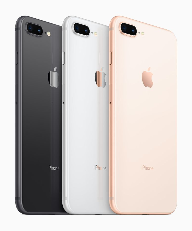 iPhone 8 and 8 Plus are available in Space Gray, Silver and Gold