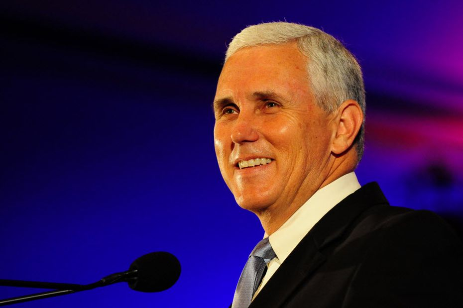 Republican presidential candidate Donald Trump and his family have met Indiana Gov. Mike Pence as speculation grows that he could be Trump's pick for vice president. Here, Pence addresses the crowd on the third and final day of the Southern Republican Leadership Conference in New Orleans in 2010. (Stacy Revere/SCG/Zuma Press/TNS)