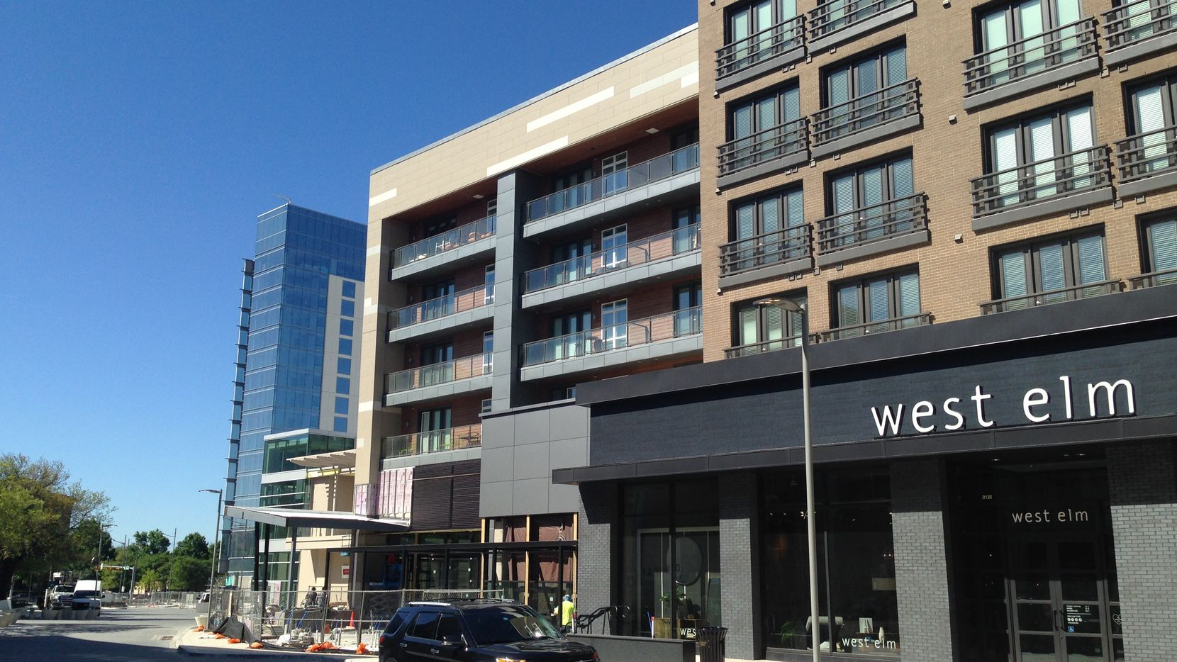 The first retailers are opening in the Legacy West Urban Village in Plano.