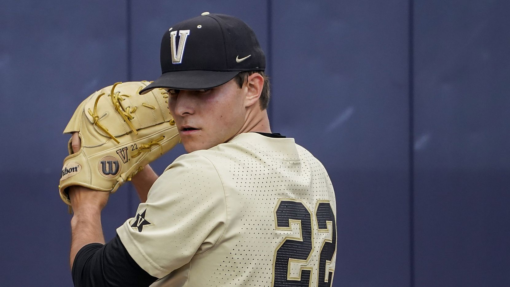 Vanderbilt pitcher Jack Leiter warms up before an NCAA baseball game against Mississippi at Swayze Field on Saturday, May 15, 2021, in Oxford, Miss.