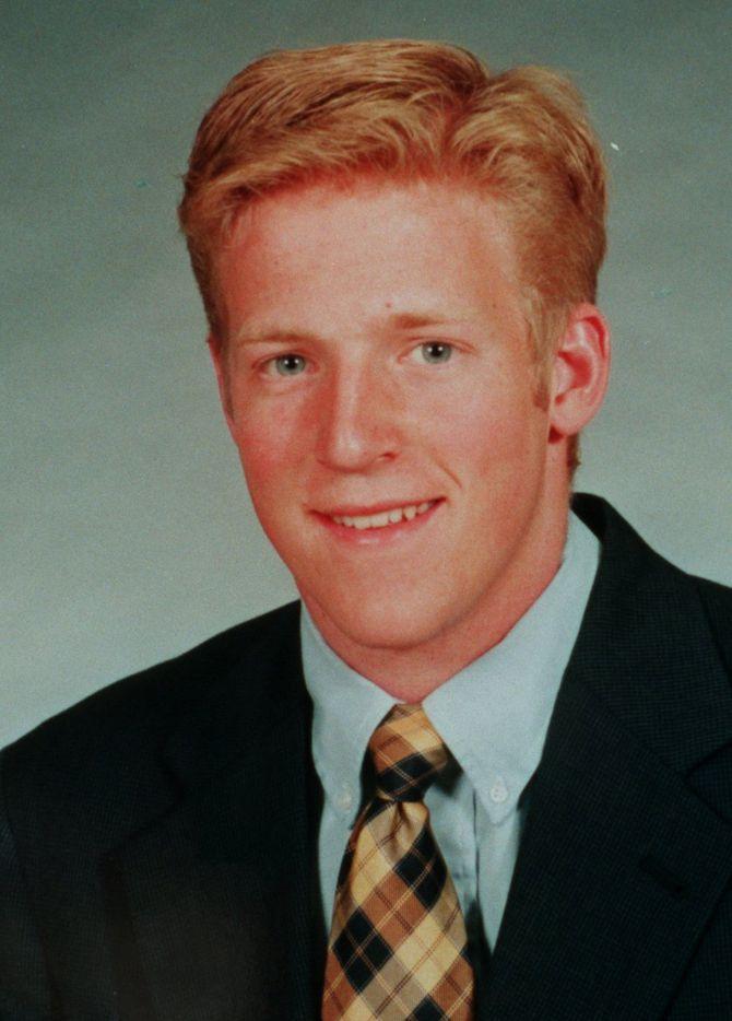 Baylor University football player David Sullivan. This photo is from the 1997-98 WAC Football Mug Book.