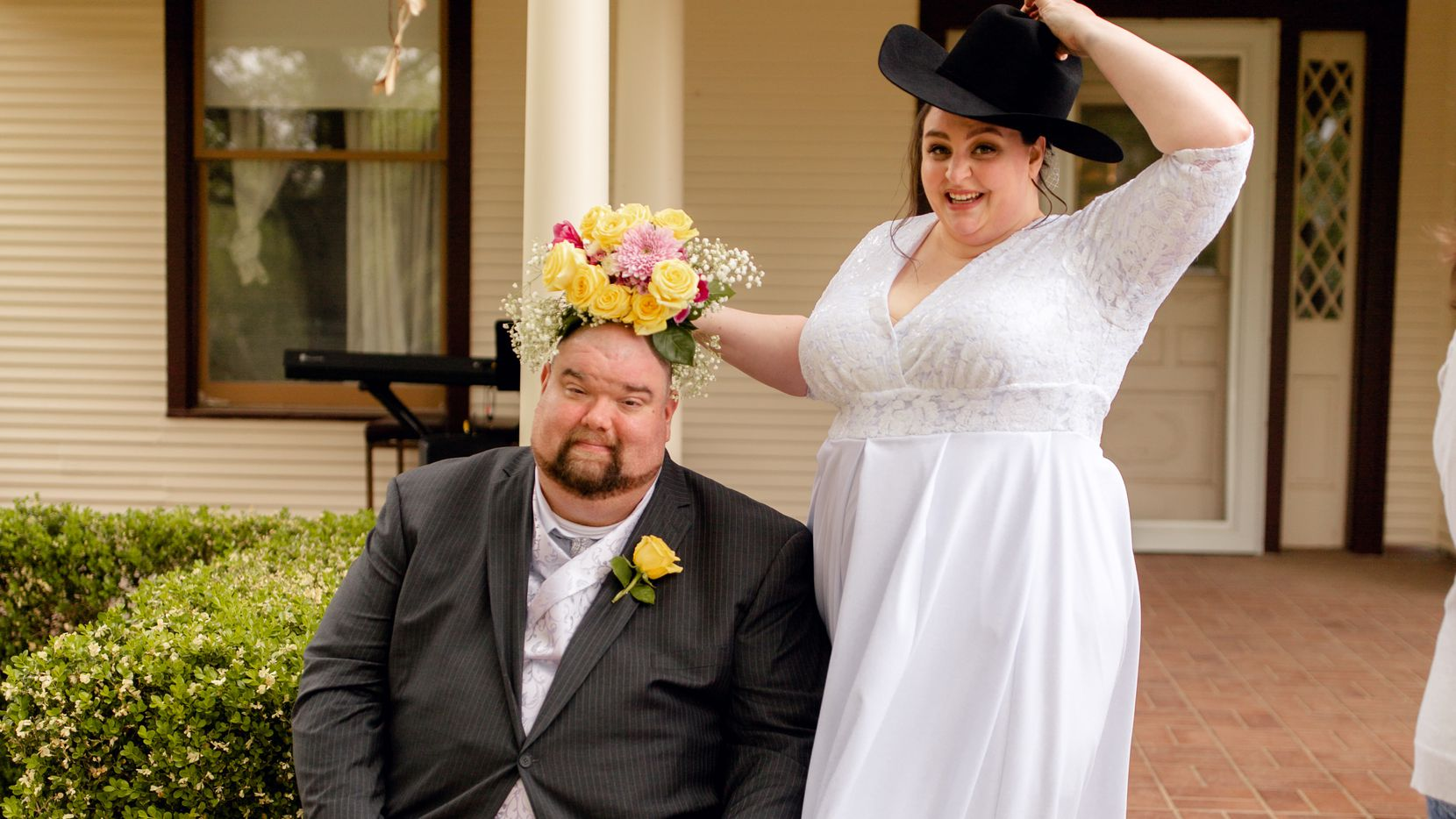 Diann Maurer and Donovan Poe got married in April and decided against traditional wedding gifts, asking guests to instead contribute to the local St. Vincent de Paul pharmacy, which provides free medications to uninsured Texans in need. (Rachel Hicks)