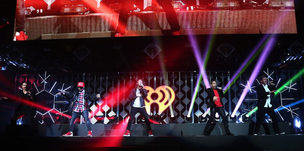 The Backstreet Boys perform at the Jingle Ball at the American Airlines Center in Dallas on Tuesday, Nov. 29, 2016. (Rose Baca/The Dallas Morning News)