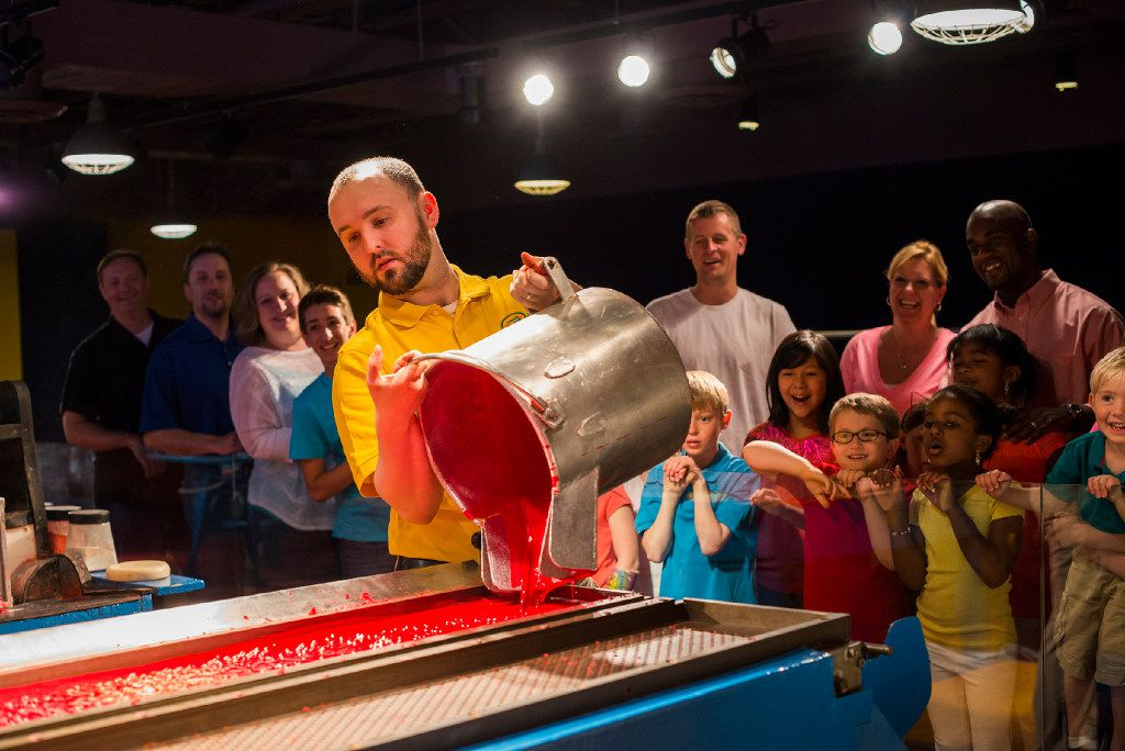 Crayon factory show at a Crayola Experience center.  There are three other Crayola centers: at the Mall of America in Minneapolis, in Easton, Penn., and in Orlando.