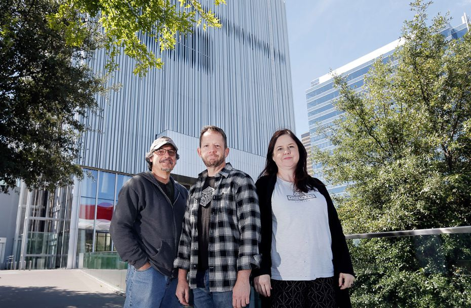 Kitchen Dog Theater's directors (from left) Chris Carlos, Tim Johnson and Tina Parker will present the company's current show, 'Trevor,' at the Wyly Theater.