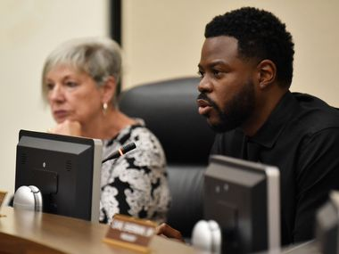 DeSoto schools Superintendent D'Andre Weaver (right) resigned on Sunday, Aug. 30, as the district potentially faces being taken over by a state-appointed conservator.