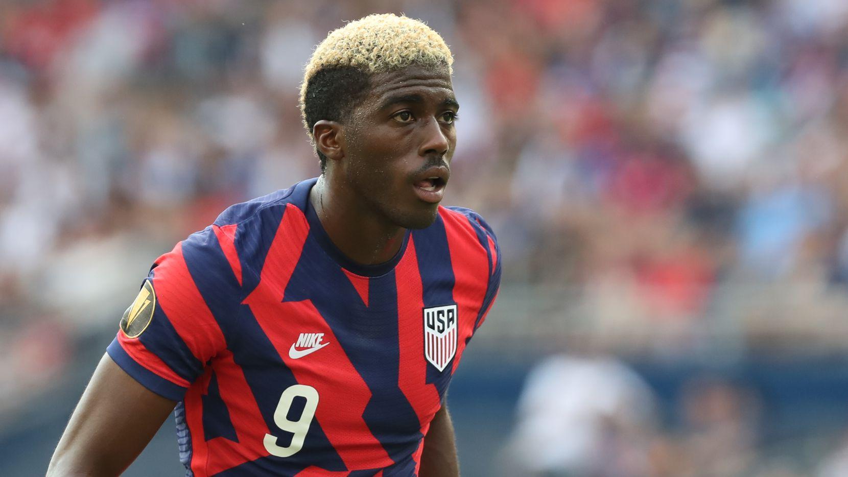 Gyasi Zardes marcó el gol del triunfo para Estados Unidos ante Qatar, el 29 de julio en Austin.