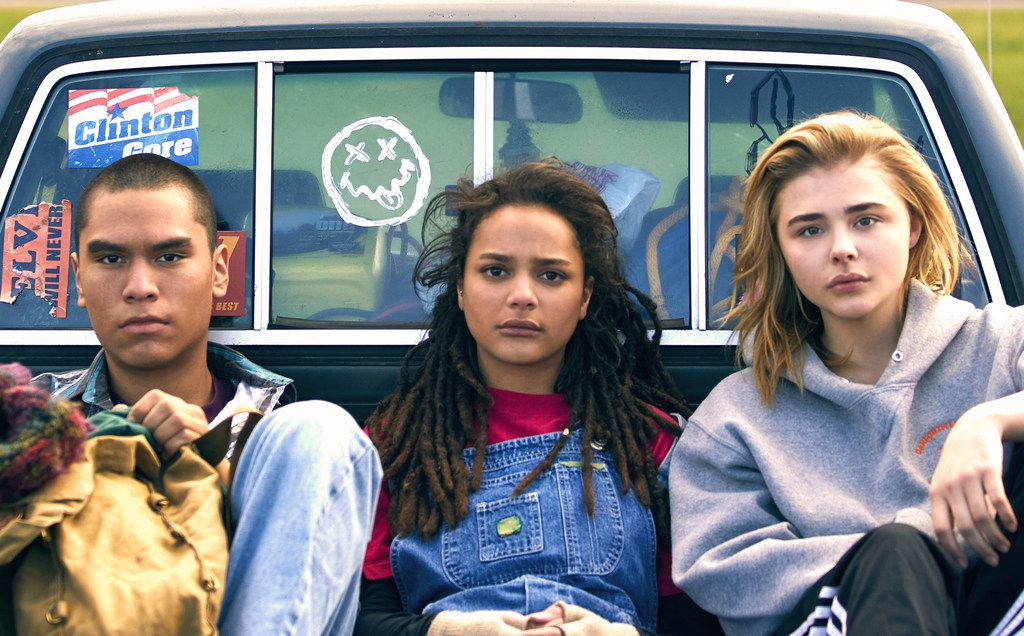 """From left, Forrest Goodluck, Sasha Lane and Chloe Grace Moretz in """"The Miseducation of Cameron Post."""""""