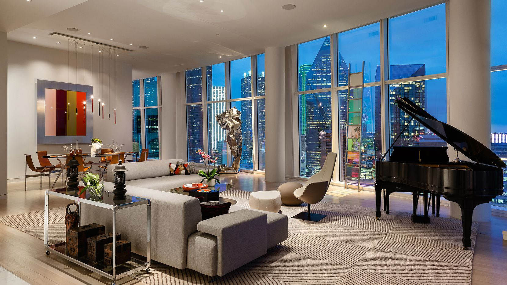The luxury real estate market in Dallas shows no signs of slowing down, said an Allie Beth Allman & Associates spokesperson, with homes like this one in Museum Tower closing for over $4 million.