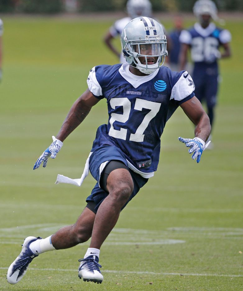 Dallas rookie cornerback Jourdan Lewis (27) is pictured during drills at Cowboys rookie minicamp practice at the Star in Frisco on Saturday, May 13, 2017. (Louis DeLuca/Dallas Morning News)