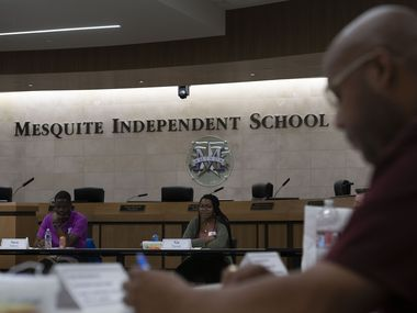 A Mesquite ISD Leadership team meets in the school's administration building in this file photo. The district announced plans to install air filters to kill viruses such as the novel coronavirus.