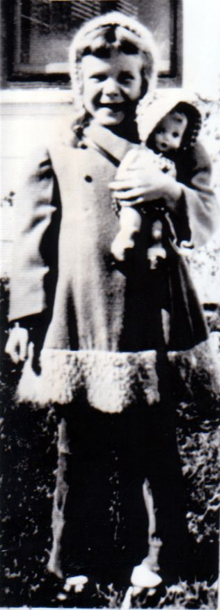 Singer Janis Joplin is shown in this childhood photo from a family album.