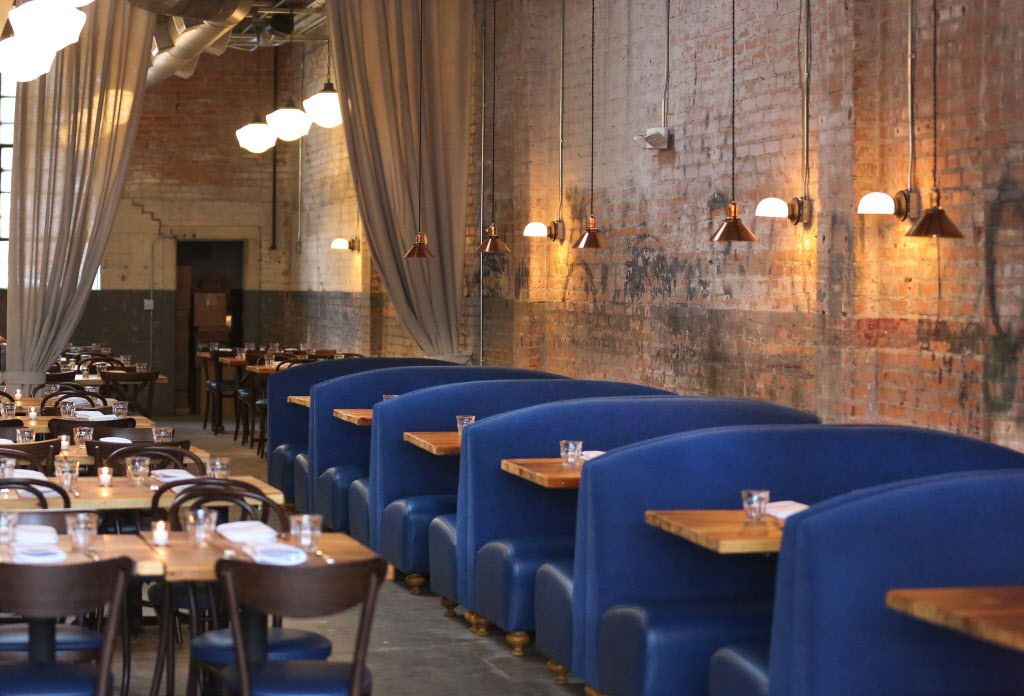 The dining area at the new restaurant, Filament, at 2626 Main Street in Deep Ellum in Dallas.
