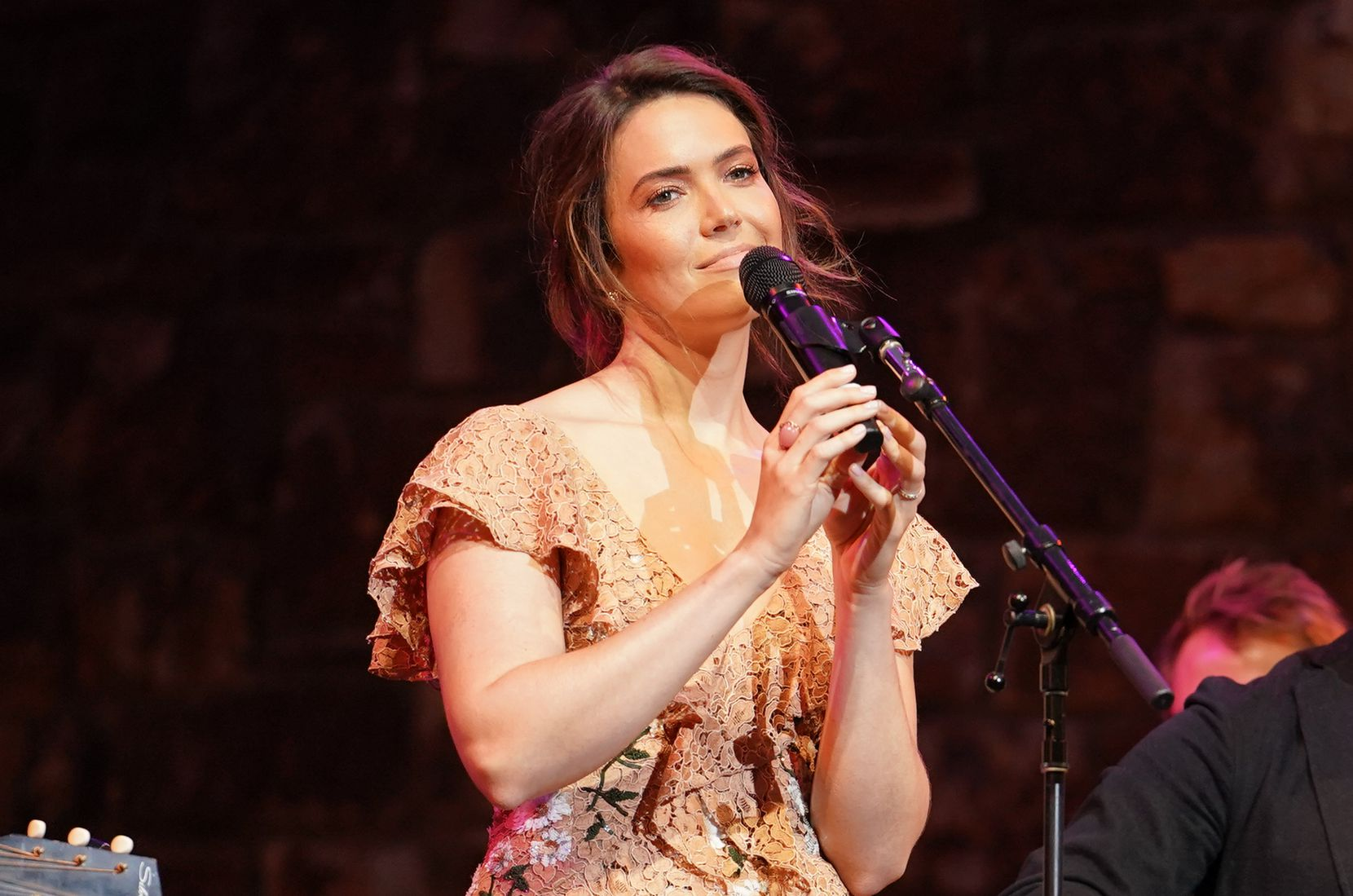 "Mandy Moore performs at 20th Century Fox Television and NBC Present ""This Is Us"" FYC Event at John Anson Ford Amphitheatre on June 6, 2019 in Hollywood, California."