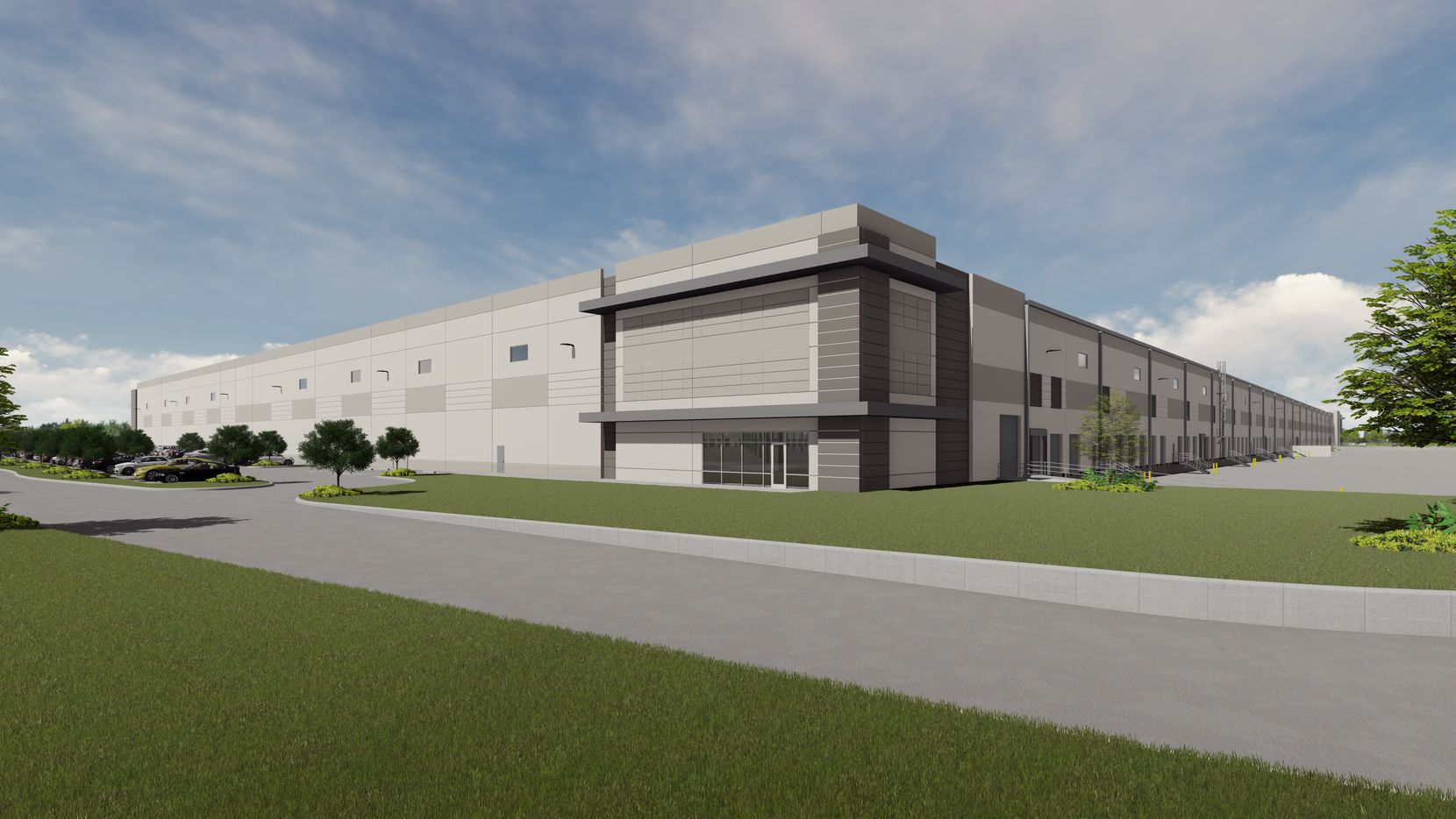 The first phase of the 75-acre Fort Worth Logistics Hub is under construction I-35W.