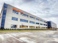 Raytheon's 500,000-square-foot, three-building office campus in the CityLine development in Richardson.