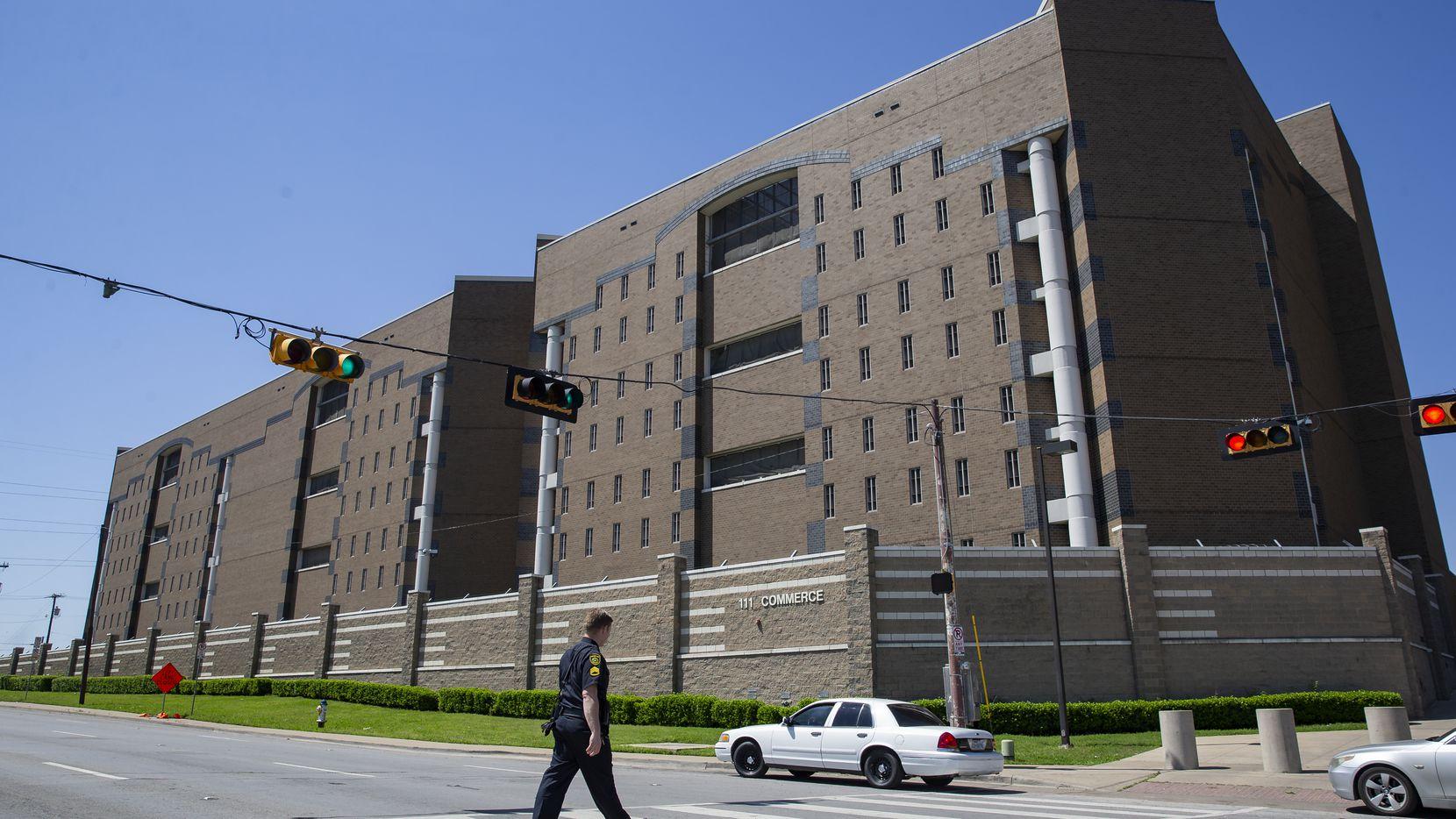 The exterior of the Lew Sterrett Justice Center on April 13, 2020 in Dallas.
