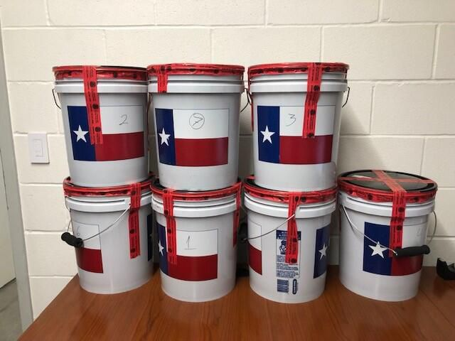 Authorities reported finding 194 pounds of liquid methamphetamine in a pickup crossing the border into Texas on Sunday.