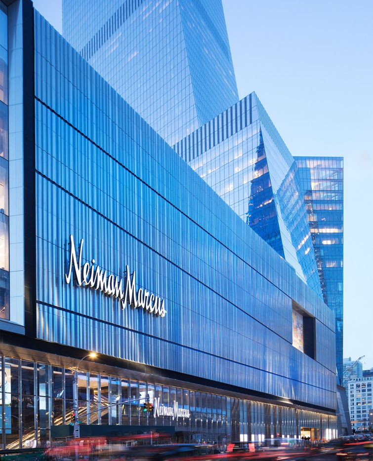Exterior of Neiman Marcus Hudson Yards. There's a private concierge entrance on 10th Avenue.
