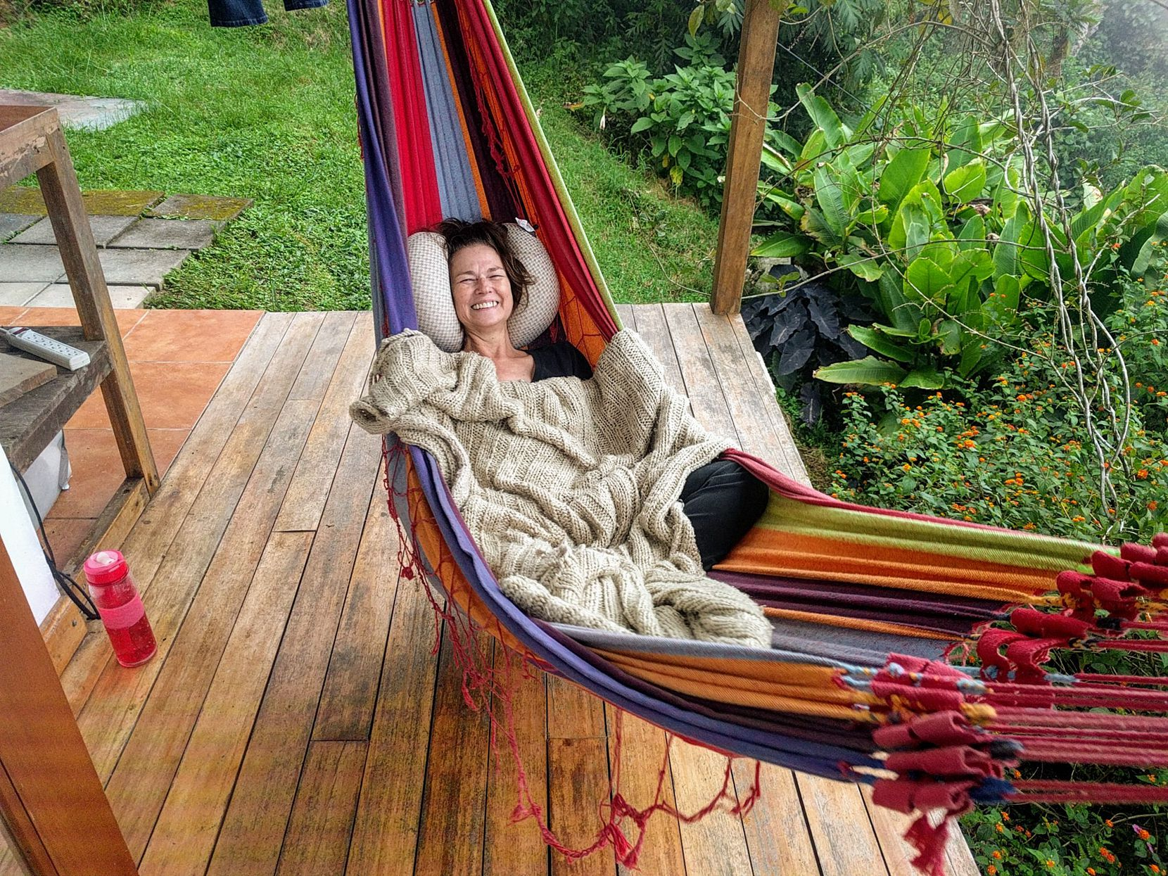 Laura Huebner in Costa Rica, where she and Barry Kooda imagined they would one day move.