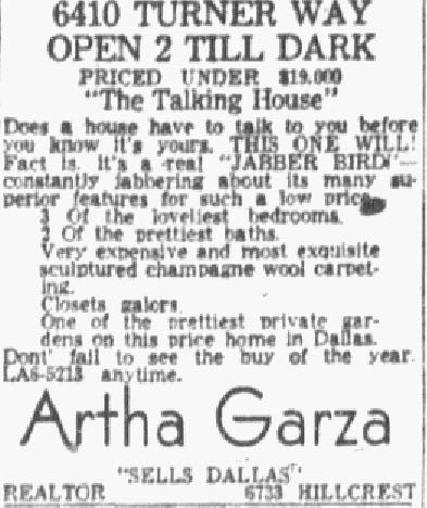 Advertisement published on Jan. 20, 1957.