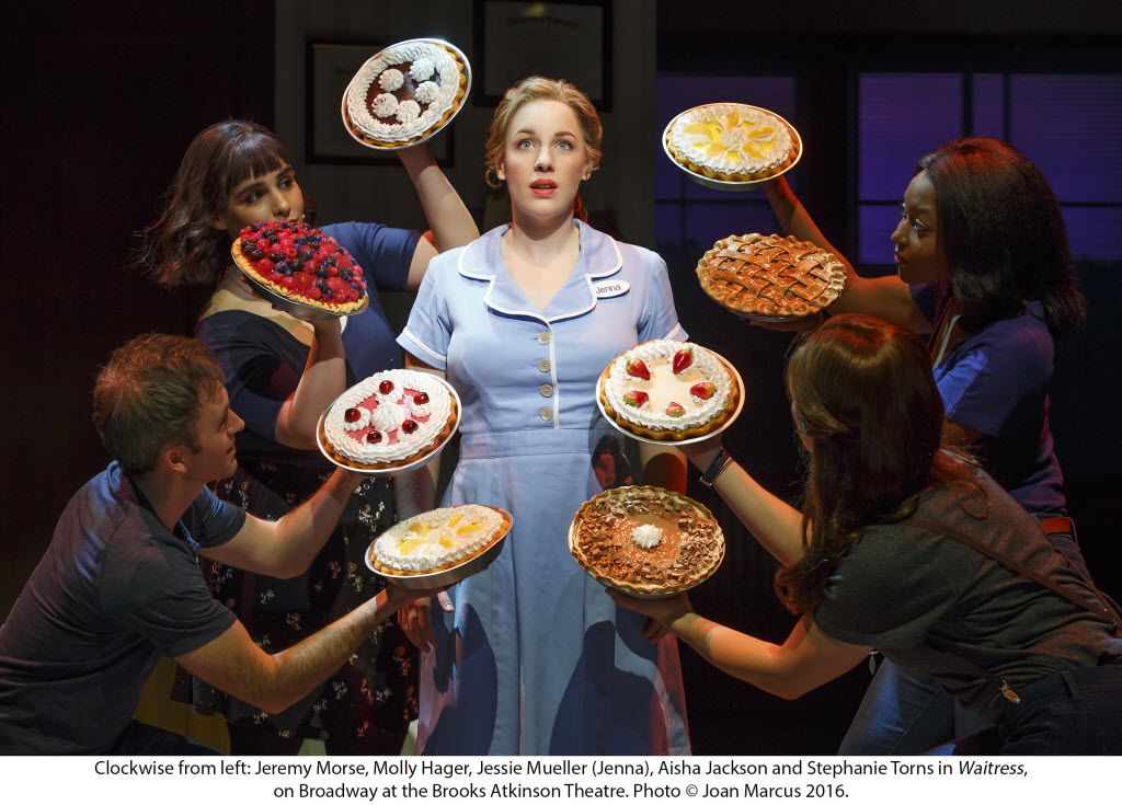 (clockwise from left) Jeremy Morse, Molly Hager, Jessie Mueller, Aisha Jackson and Stephanie Torns starred in 'Waitress' on Broadway. Performing Arts Fort Worth will present the Fort Worth premiere of the national tour in a co-presentation with Dallas Summer Musical