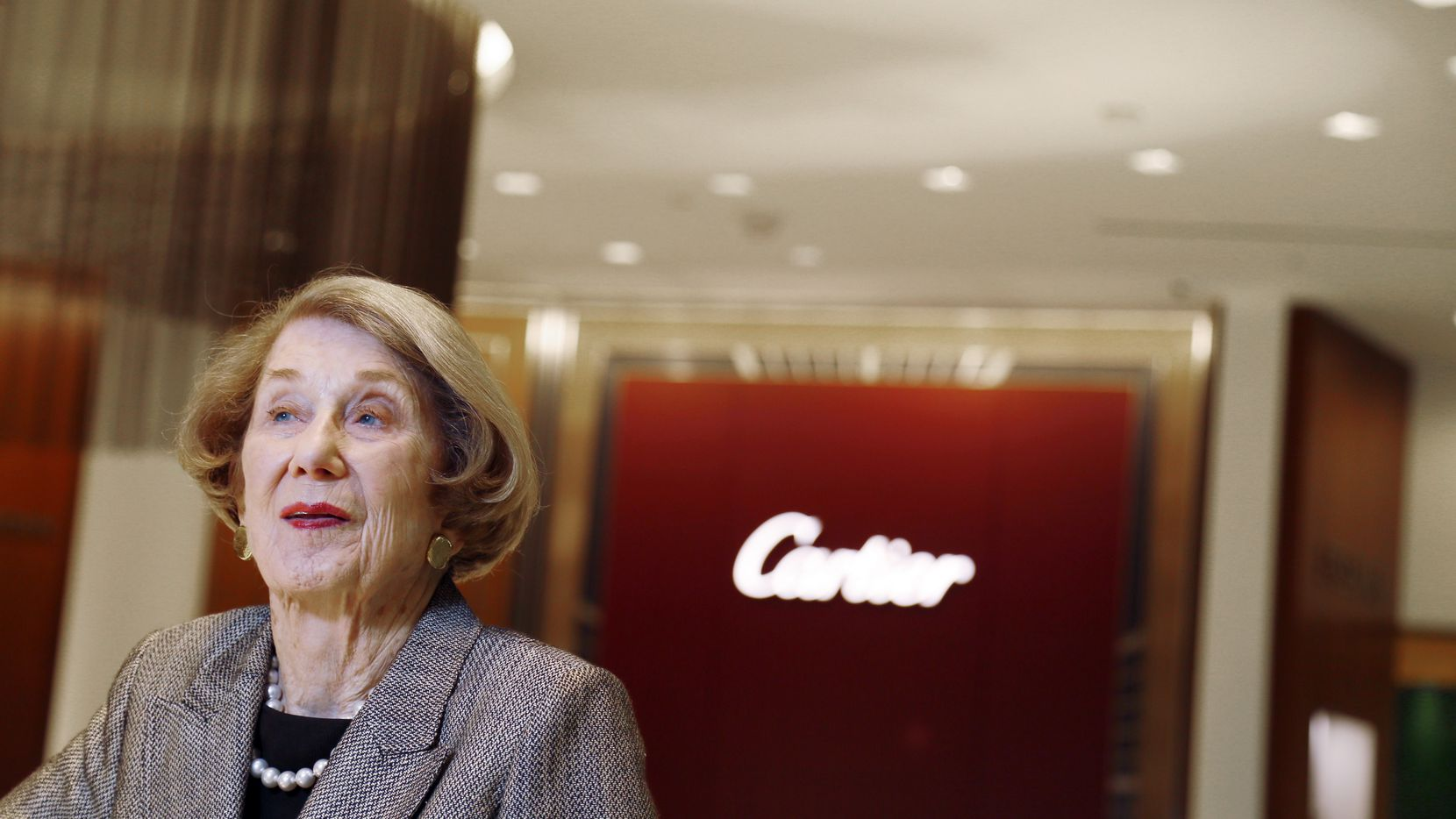 Louise Eiseman is shown at Eiseman Jewels at NorthPark Center in Dallas in 2014 as it celebrated its 50th year at NorthPark with a newly remodeled store.