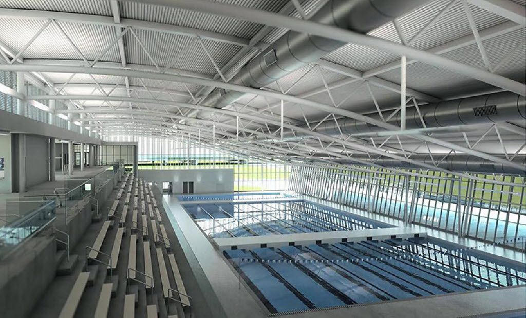 Garland ISD trustees backed away from building their original vision of a natatorium (above) when bids came in at $30.2 million. They've now pushed the proposed swimming and diving facility to 2019, and proponents fear it may never be built.