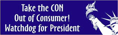 Bumper sticker from The Watchdog's satirical campaign for president in 2016.
